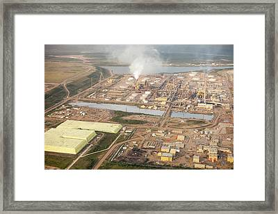 Sulphur Extracted From Tar Sands Framed Print