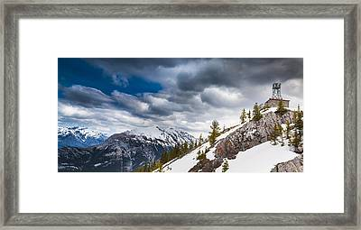 Sulphur Mountain Up High Framed Print by Chris Halford