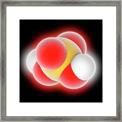 Sulphuric Acid Molecule Framed Print by Laguna Design
