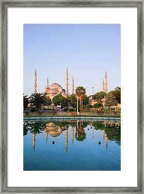 Sultan Ahmet Camii In Istanbul Framed Print by Artur Bogacki