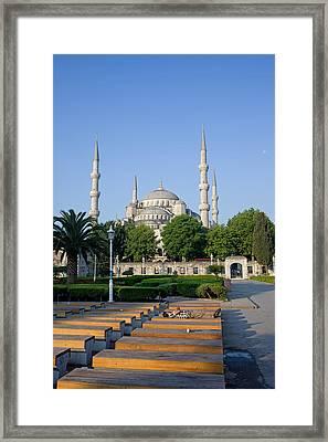 Sultan Ahmet Mosque In Istanbul Framed Print by Artur Bogacki