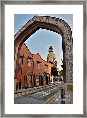Sultan Mosque Arab Street Thru Arch Singapore Framed Print by Imran Ahmed