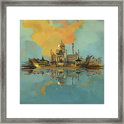 Sultan Omar Ali Saifuddin Mosque Framed Print by Corporate Art Task Force
