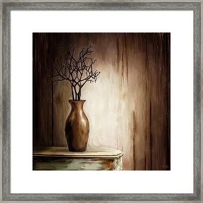 Sultry Brown- Distressed Art Framed Print by Lourry Legarde