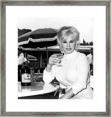 Sultry Mamie Van Doren Framed Print by Underwood Archives