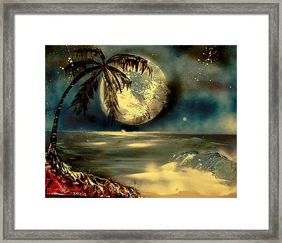 Sultry Moonlight Framed Print by Rochelle Midro