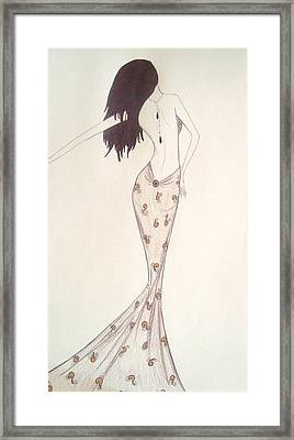 Sultry Sophisticate  Framed Print by Christine Corretti