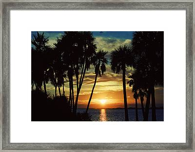 Framed Print featuring the photograph Sultry Sunset by Janie Johnson