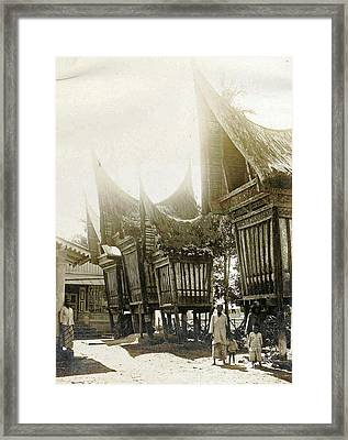 Sumatra Indonesia, Pastry Sheds, Anonymous Framed Print by Artokoloro