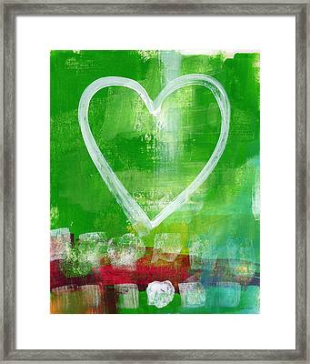 Sumer Love- Abstract Heart Painting Framed Print