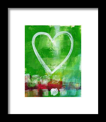 Blue Heart Framed Prints