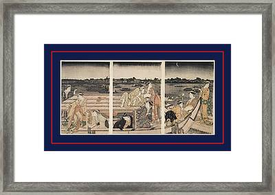 Sumidagawa Funa-asobi = Pleasure-boating On The Sumida River Framed Print by Artokoloro