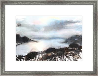 Sumie No.18 Evening Hokkaido Framed Print