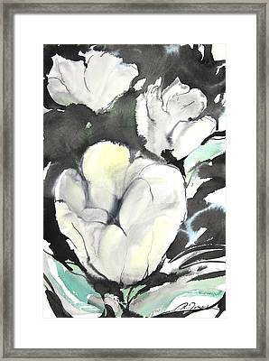 Sumie No.5 Tulips Framed Print