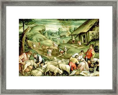 Summer, 1570-80 See Also 65685 Framed Print by Francesco Bassano