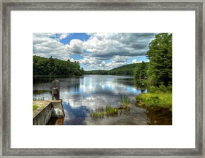 Summer Afternoon At The Spillway Framed Print