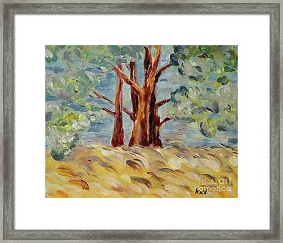 Framed Print featuring the painting Summer Afternoon by Maria Langgle