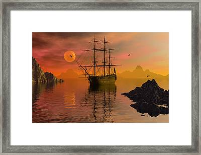 Summer Anchorage Framed Print
