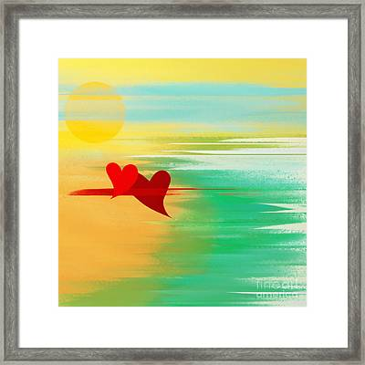 Summer And In Love Framed Print