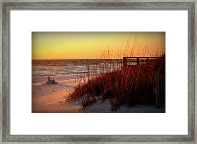 Summer And Sandcastles Framed Print