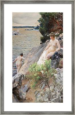 Summer Framed Print by Anders Zorn