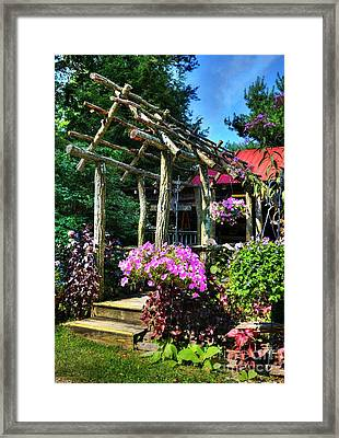 Summer Arches Framed Print by Mel Steinhauer