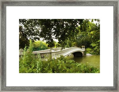 Summer At Bow Bridge Framed Print by Jessica Jenney