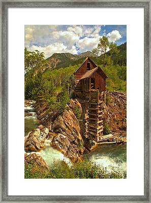 Summer At Crystal Mill Framed Print by Adam Jewell
