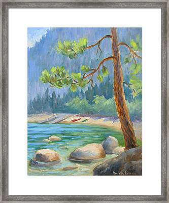 Summer At Lake Tahoe Framed Print by Karin  Leonard