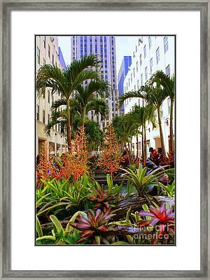 Summer At Rockefeller Center Framed Print by Dora Sofia Caputo Photographic Art and Design