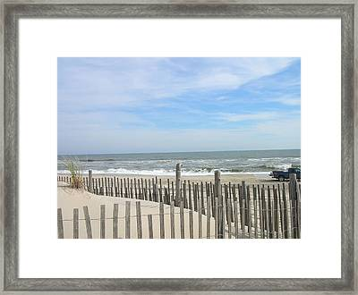 Summer At The Jersey Shore Framed Print