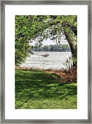 Summer At The Lake Framed Print