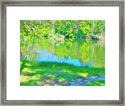 Summer At The Lake Framed Print