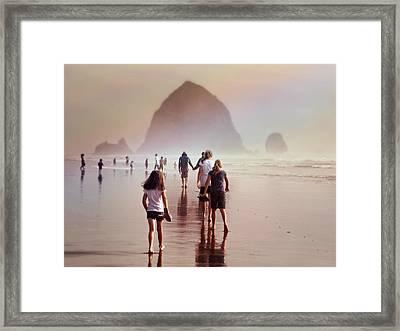 Summer At The Seashore  Framed Print by Micki Findlay