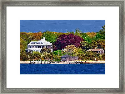 Summer At The Shore Framed Print