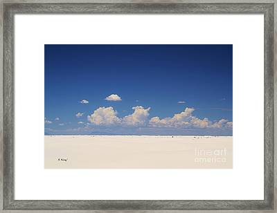 Summer At White Sands National Monument Framed Print by Roena King