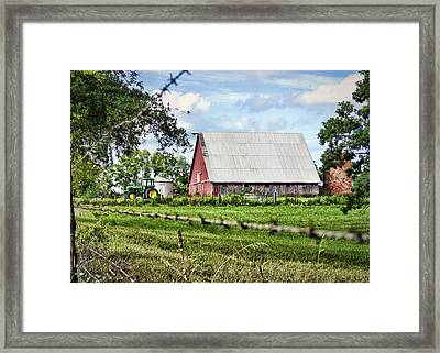 Summer Barn Framed Print by Cricket Hackmann