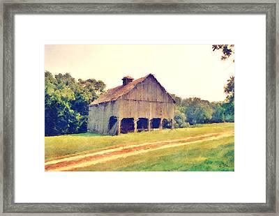 Summer Barn Framed Print
