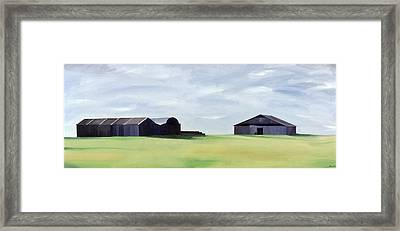 Summer Barns Framed Print by Ana Bianchi