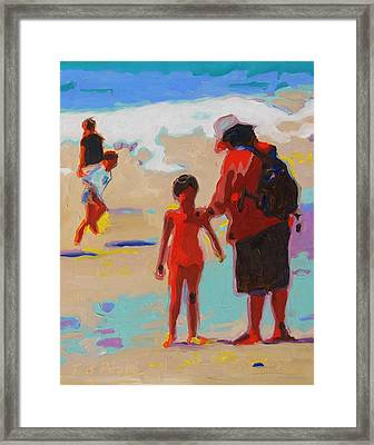 Summer Beach Play Framed Print