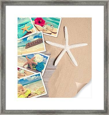 Summer Beach Postcards Framed Print