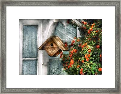 Summer - Birdhouse - The Birdhouse Framed Print by Mike Savad