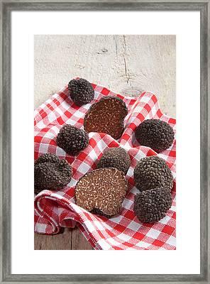 Summer Black Truffles (tuber Aestivum Framed Print