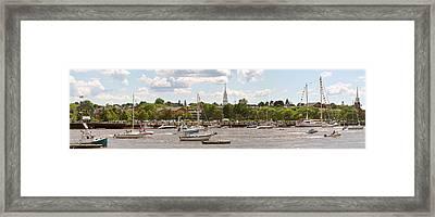 Summer Boardwalk - 2009 Framed Print