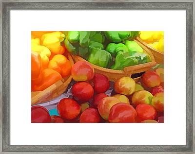Summer Bounty Framed Print by Barbara McDevitt
