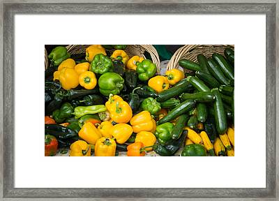 Framed Print featuring the photograph Summer Bounty by Wayne Meyer