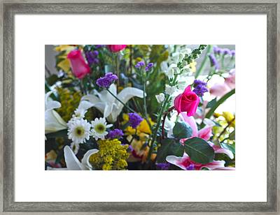 Summer Bouquet Framed Print by M West