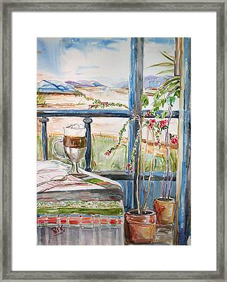 Framed Print featuring the painting Summer Break by Becky Kim