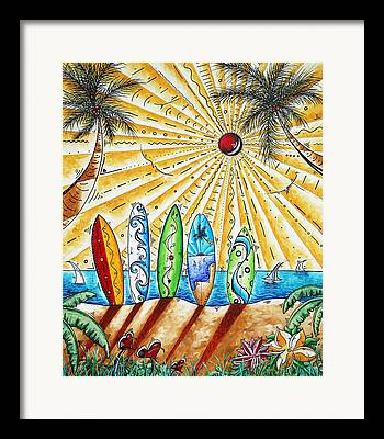 Surf Lifestyle Paintings Framed Prints