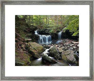 Summer Breeze At R B Ricketts Falls Framed Print by Gene Walls